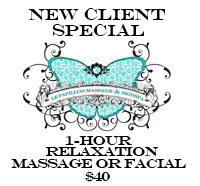 new client special for massage or facial